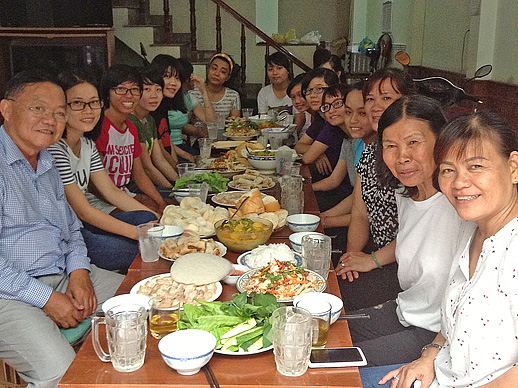 festive lunch in SPI study house