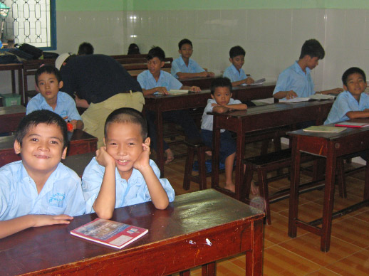 de kinderen in het klaslokaal
