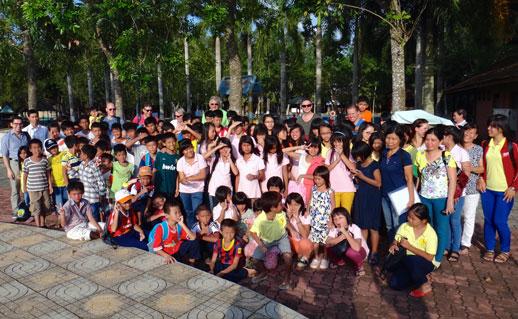 De KIDS in het waterpark Ho Chi Minh City