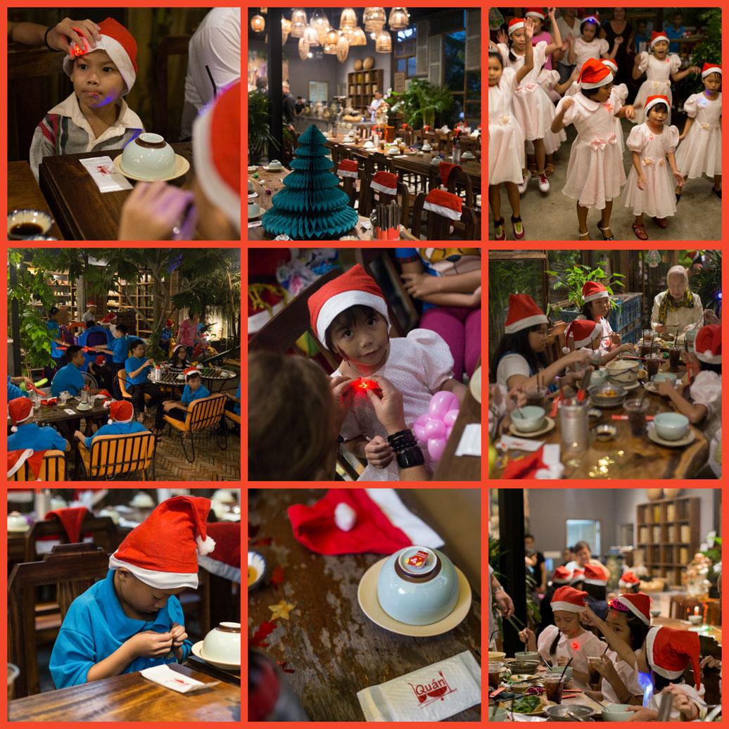 Kids in Vietnam vieren kerstfeest in de weeshuizen